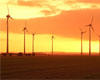 Our wind park at Mablethorpe at sunset